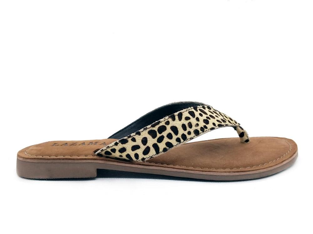 Witte Lazamani Slippers Dalmatian Hair