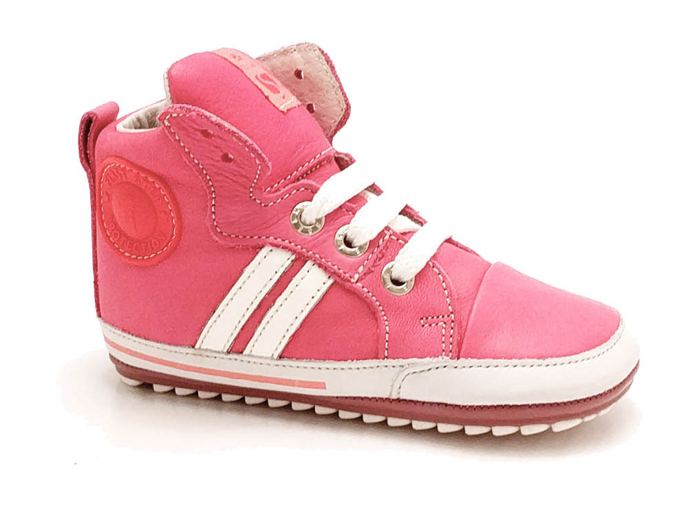 Roze ShoesMe Babyproof Veterschoenen Flex