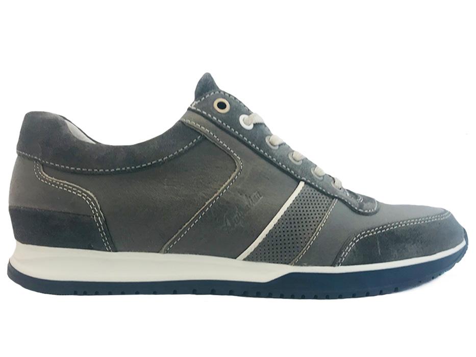 Grijze Australian Veterschoenen Catania Leather