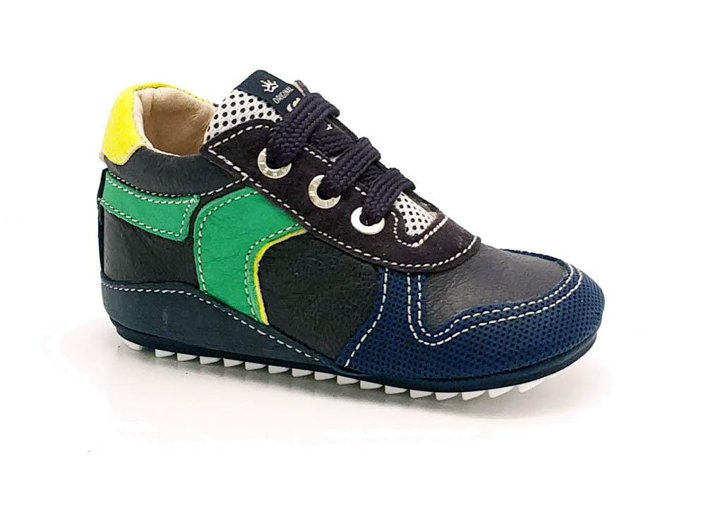 Blauwe ShoesMe Babyrproof Veterschoenen Flex