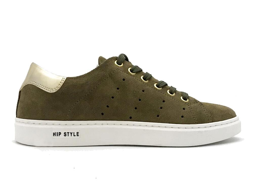Kaki Hip Sneakers Suede