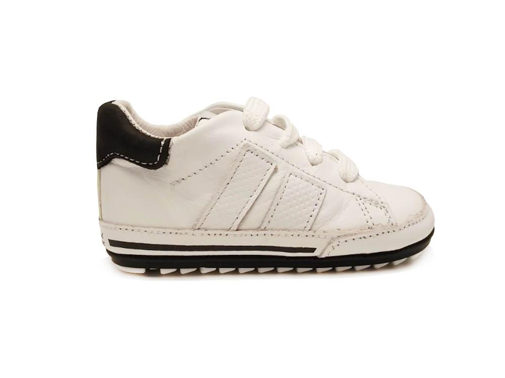 ShoesMe Witte  Veterschoenen Babyproof Flex