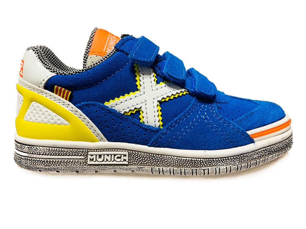 Blauwe Munich Sneakers G3 Kids Klittenband