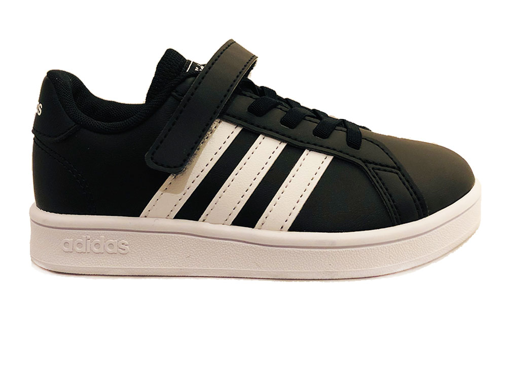 Zwarte adidas Sneakers Grand Court Kids