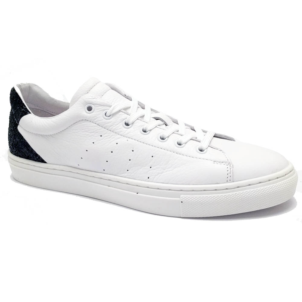 Witte Cartoux Sneakers Black Glitter