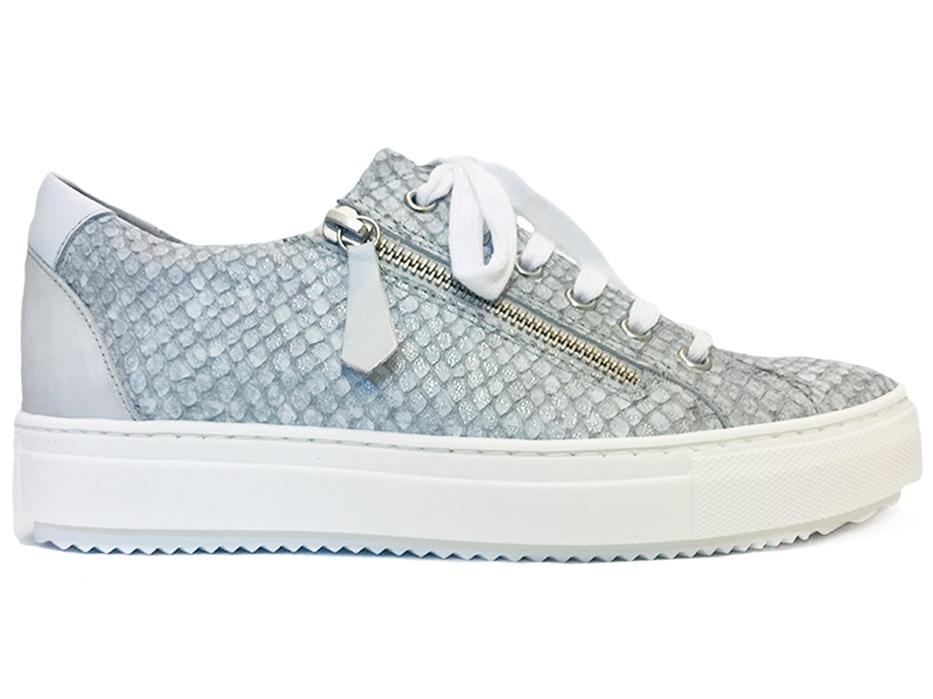 Zilveren Verhulst Sneakers Tara Wijdte H