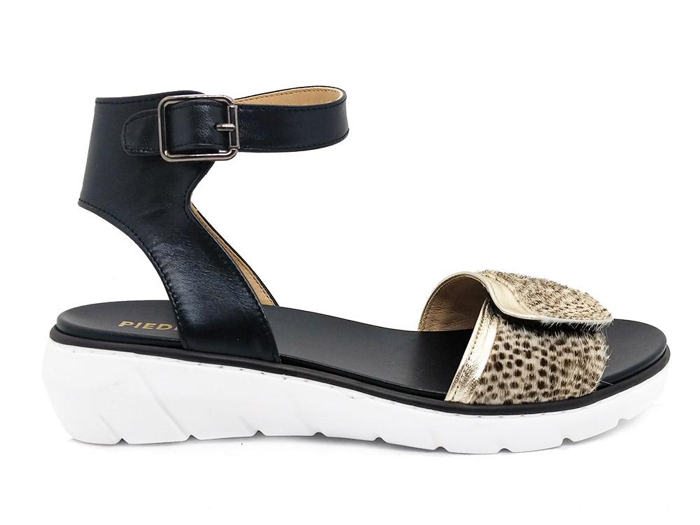 Zwarte Piedi Nudi Sandalen