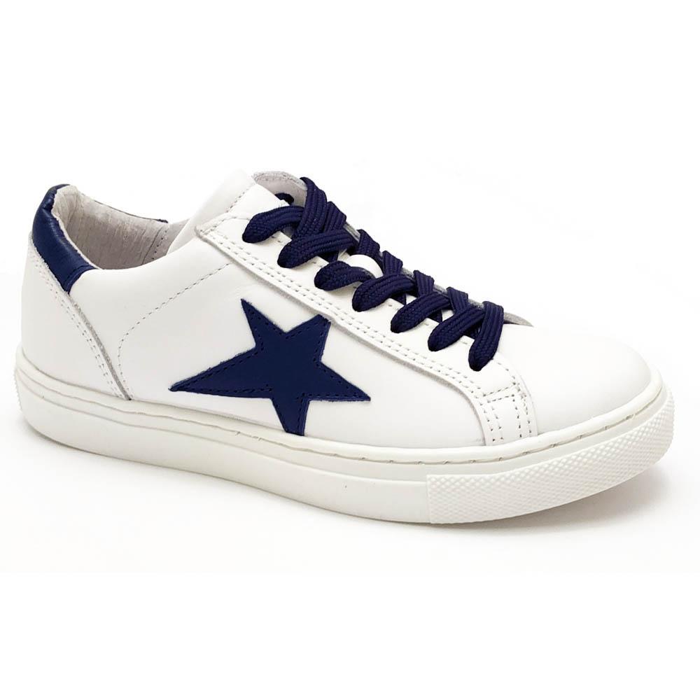 Witte Gattino Sneakers Blauwe Ster