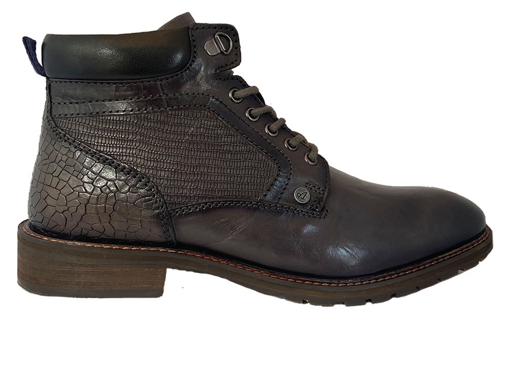 Grijze Australian Veterschoenen Tottenham Leather