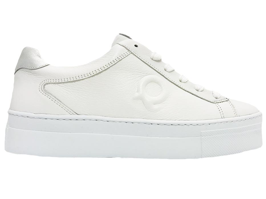 Witte Aqa Veterschoenen Velvet White