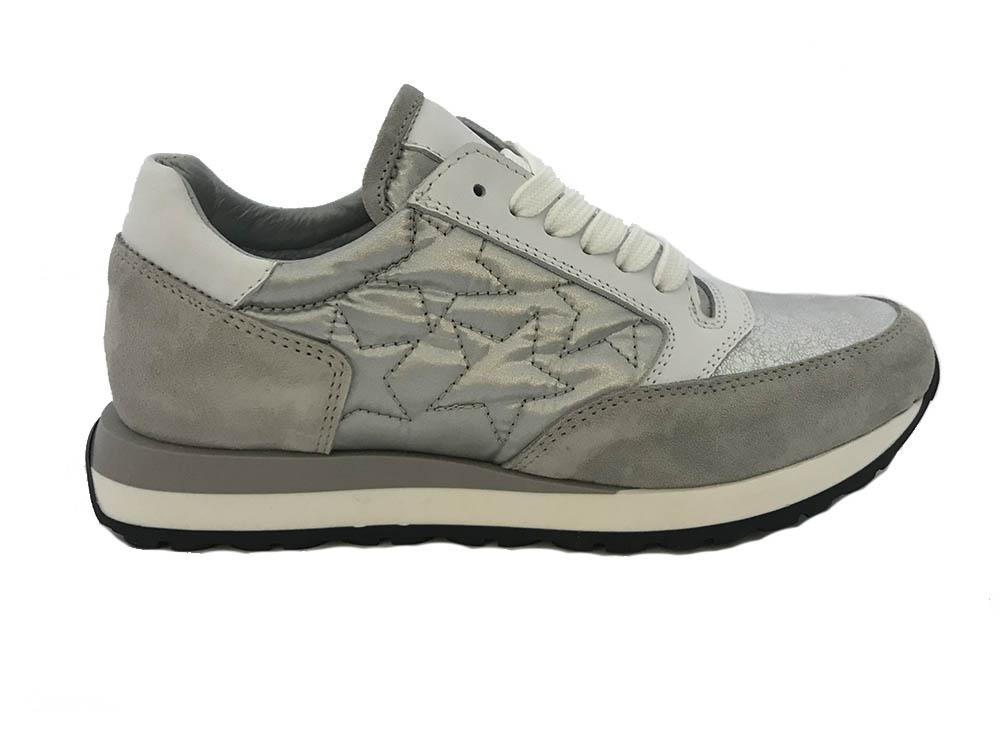 Grijze Hip Sneakers Zilveren Sterren
