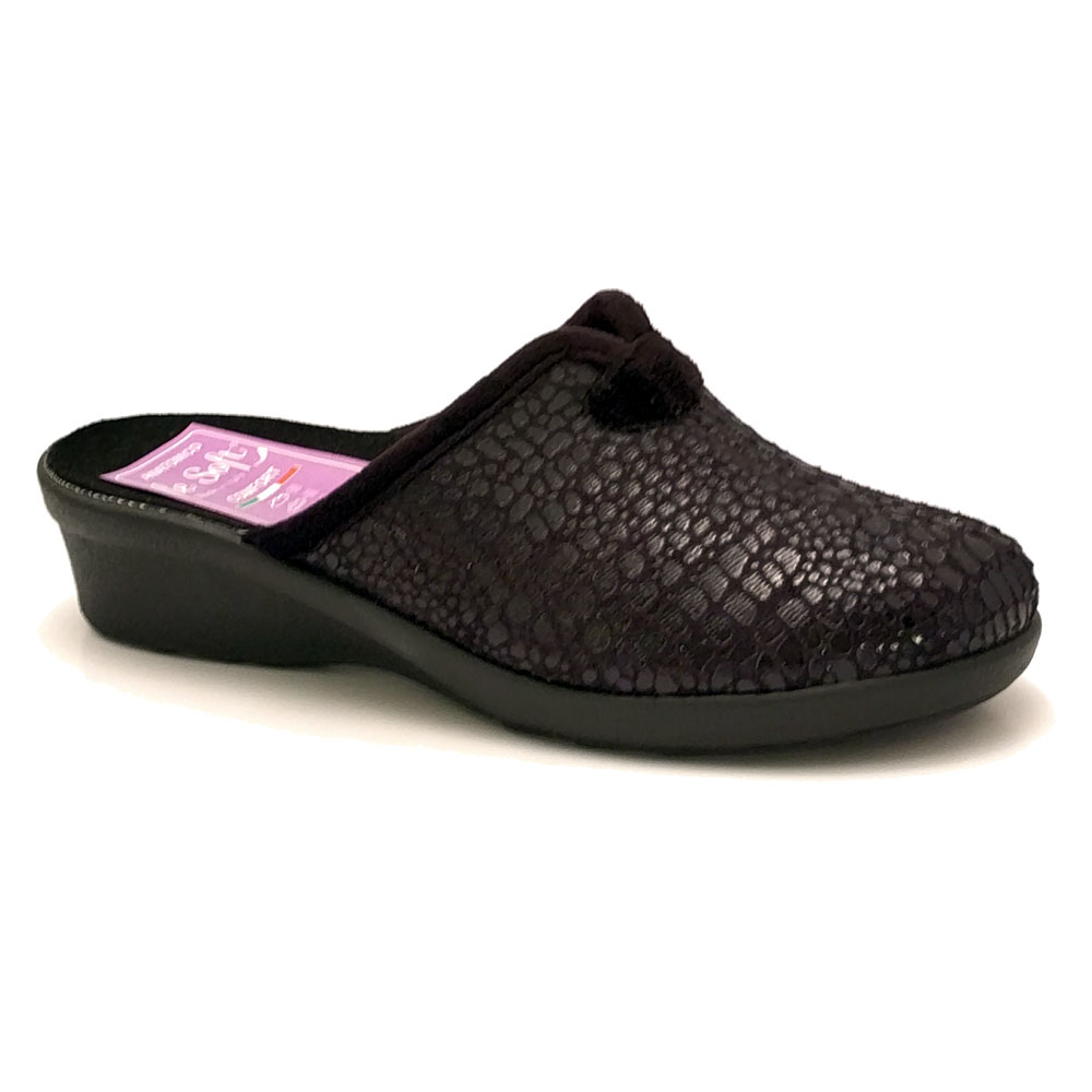 Zwarte Dames Pantoffels Muil Comfort