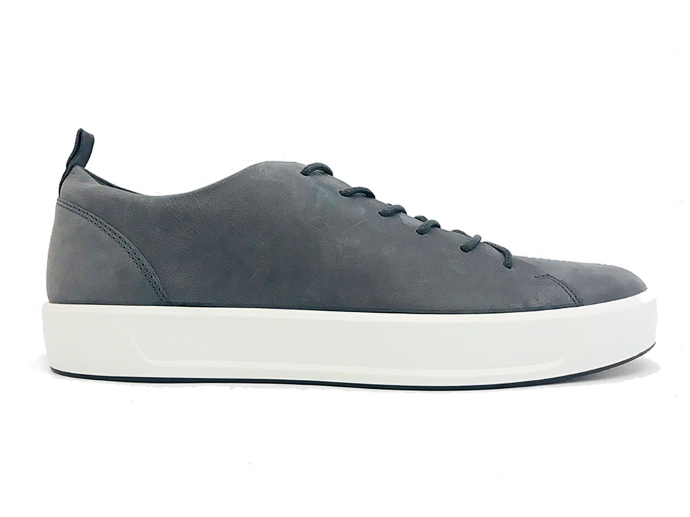 Grijze Ecco Veterschoenen Soft 8 Men