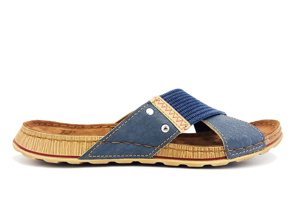 Blauwe Fischer Slippers