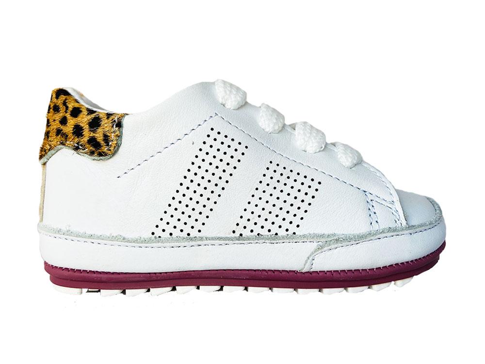 Witte ShoesMe Veterschoenen Babyproof Flex