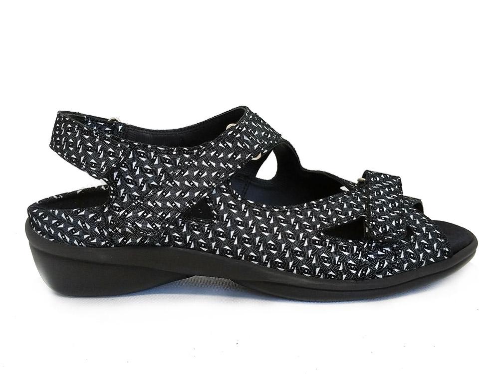 Zwarte Durea Sandalen Wijdte H