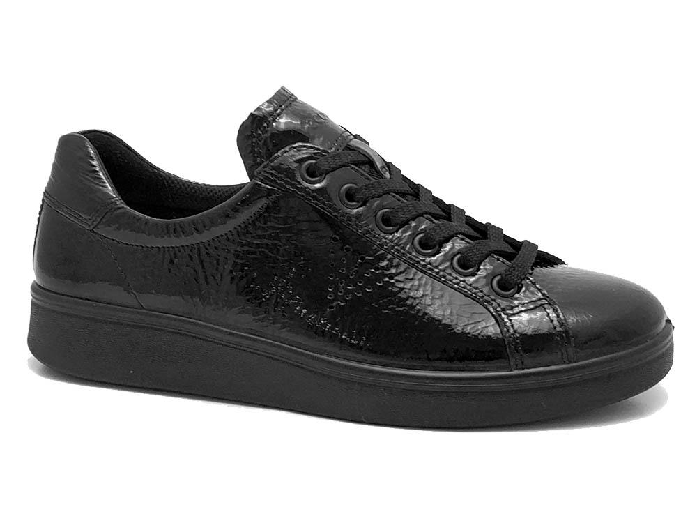 Zwarte Ecco Veterschoenen Soft 4
