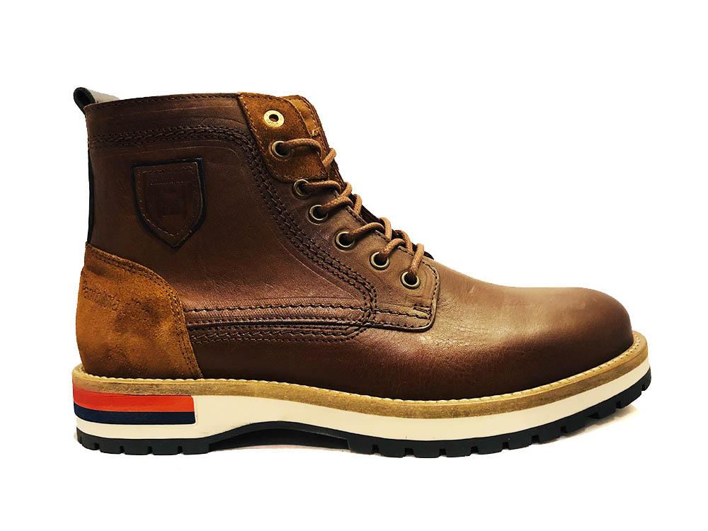 Bruine Pantofola d'Oro Veterschoenen Pontida High