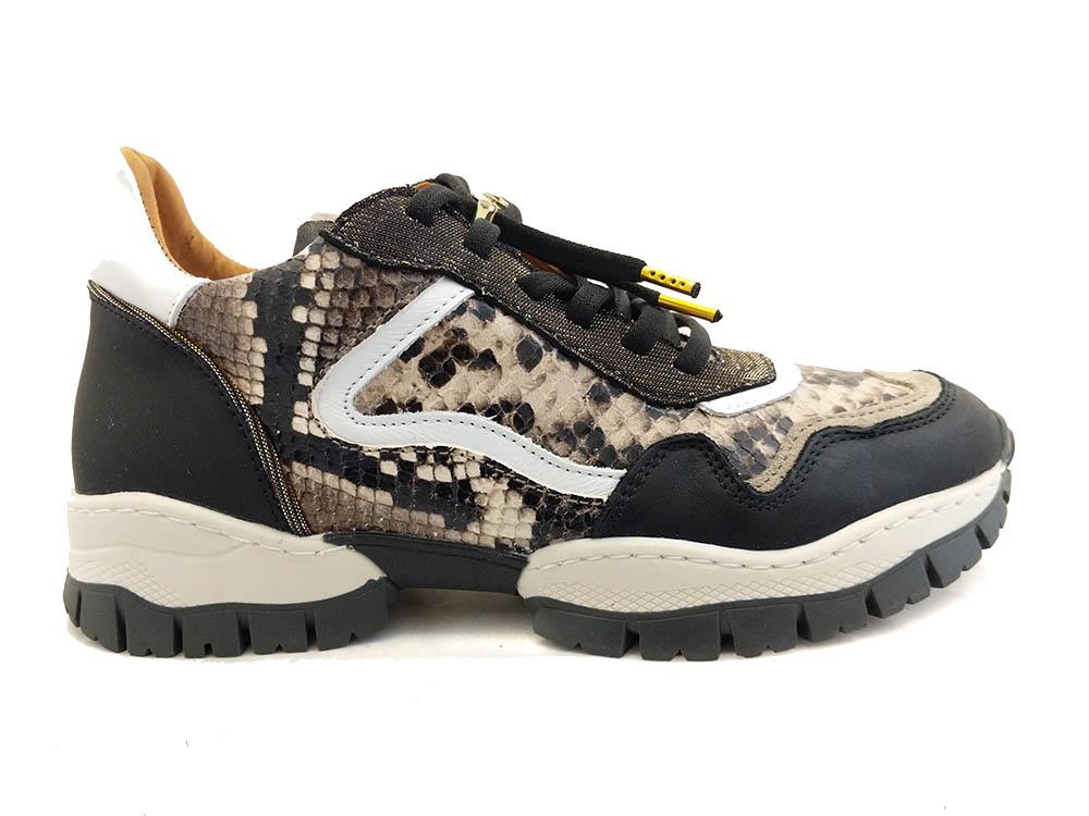 Taupe Via Vai Sneakers Caseros Combi