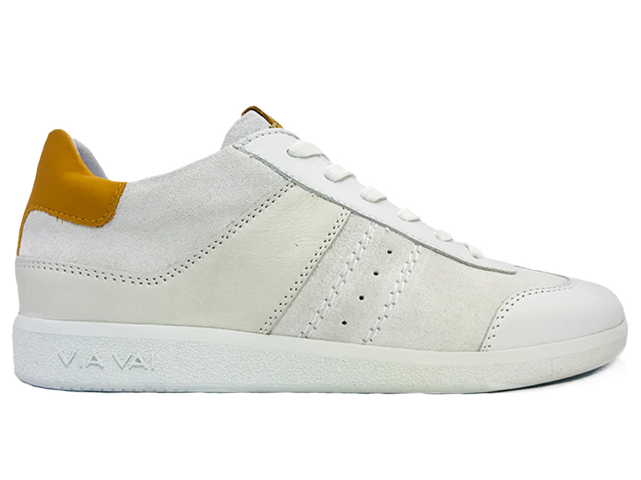 Witte Via Vai Sneakers Nilla Vitello Mushroom