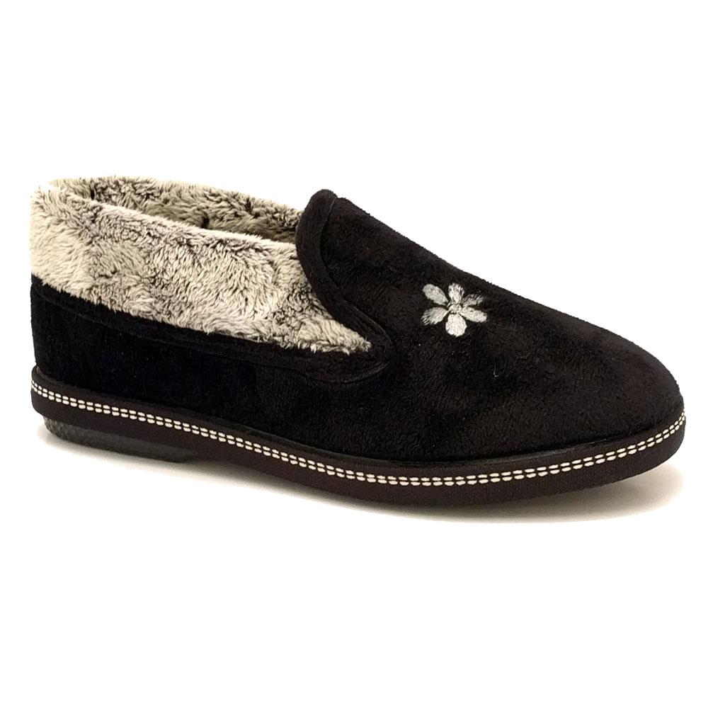 Zwarte Dames Pantoffels Relax