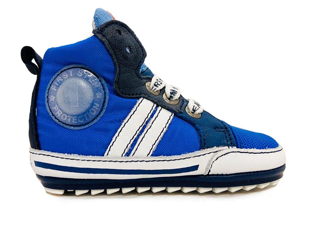 Blauwe ShoesMe Veterschoenen Flex Baby Proof