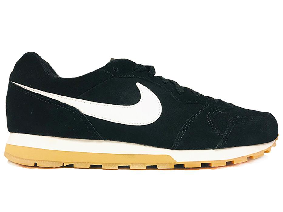 Zwarte Nike Sneakers MD Runner 2 Suede
