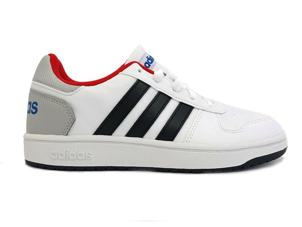 Witte adidas Sneakers Hoops 2.0 Kids