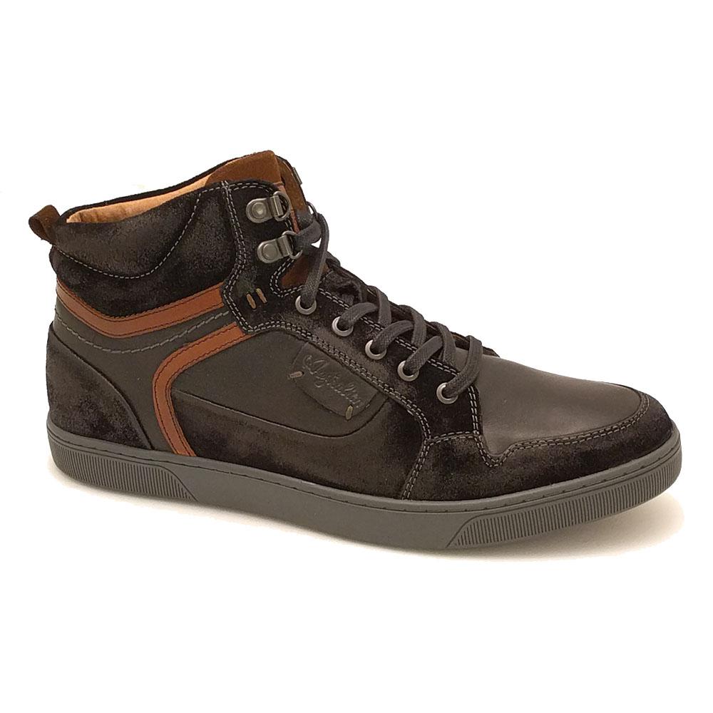 Zwarte Australian Montana Leather Veterschoenen