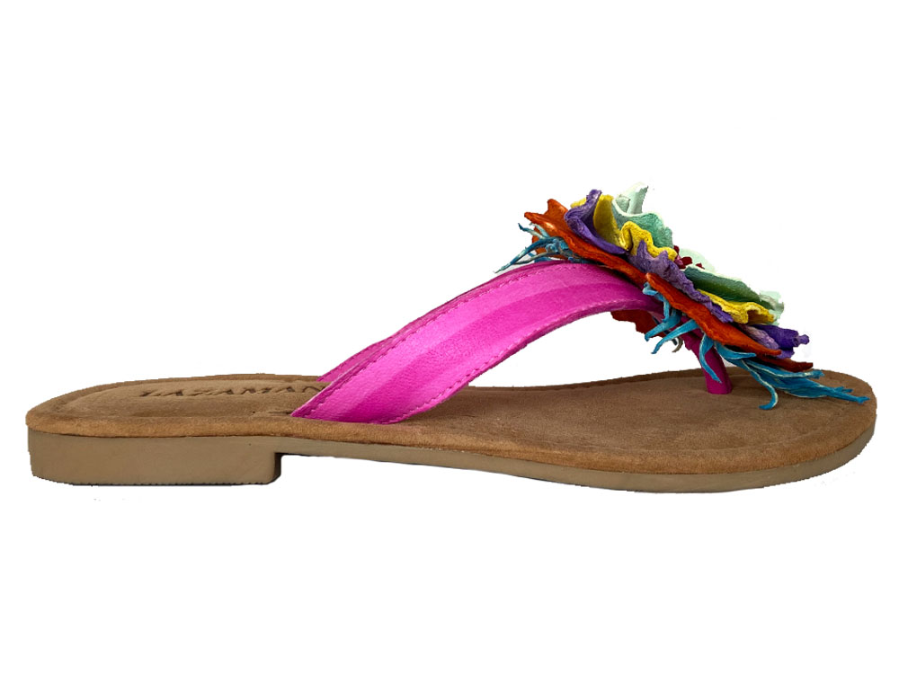 Multi-Color Lazamani Teenslippers Flower Washed