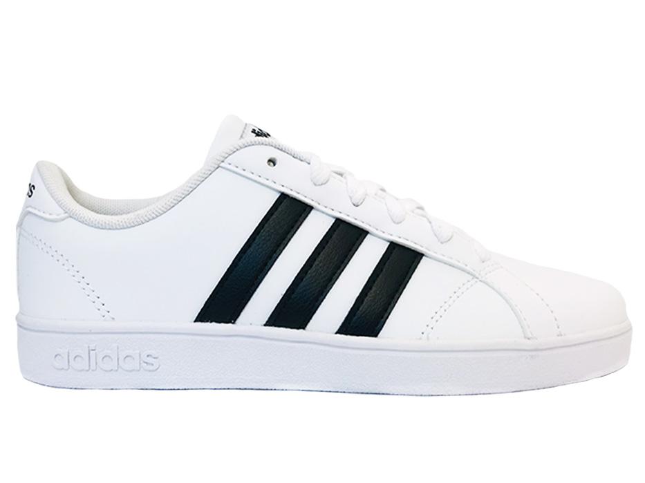 Witte adidas Sneakers Baseline Kids Zwarte Strepen