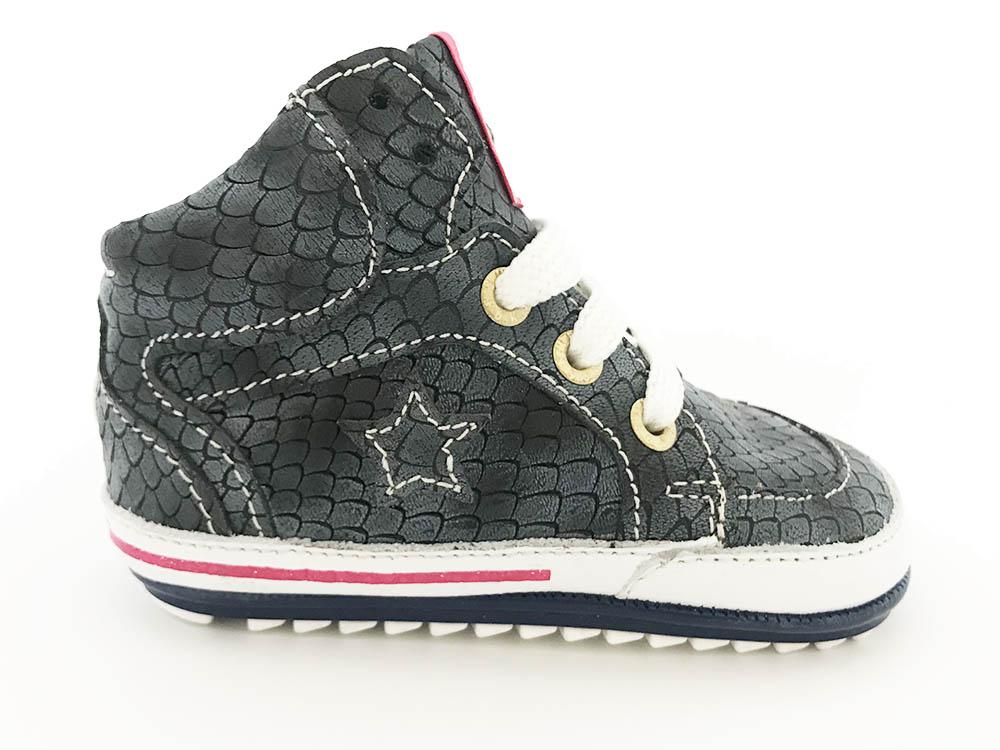 Blauwe ShoesMe Veterschoenen Babyproof Flexzool