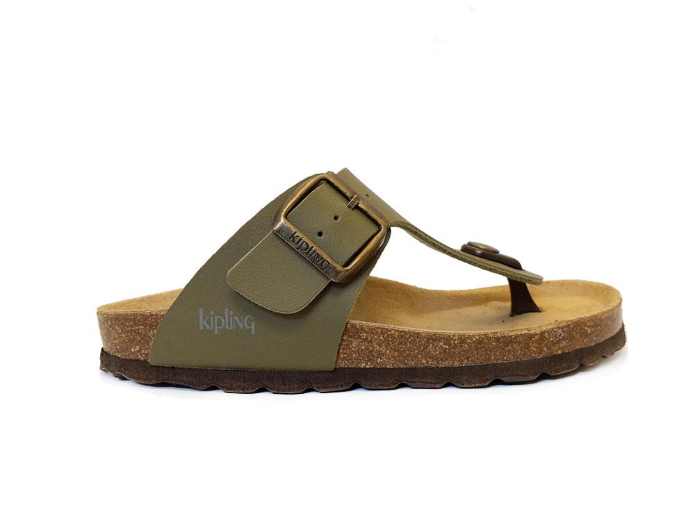 Groene Kipling Teenslippers Juan 4 Khaki