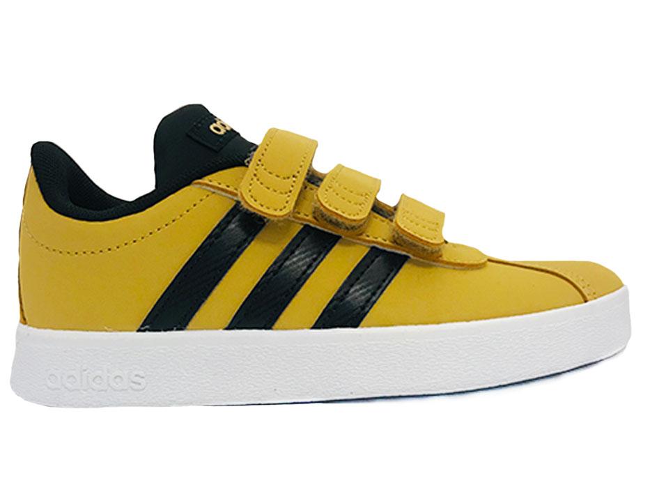 4d9e07e2859 Gele adidas Sneakers VL Court 2.0 Kids Klittenband - Verest Schoenen