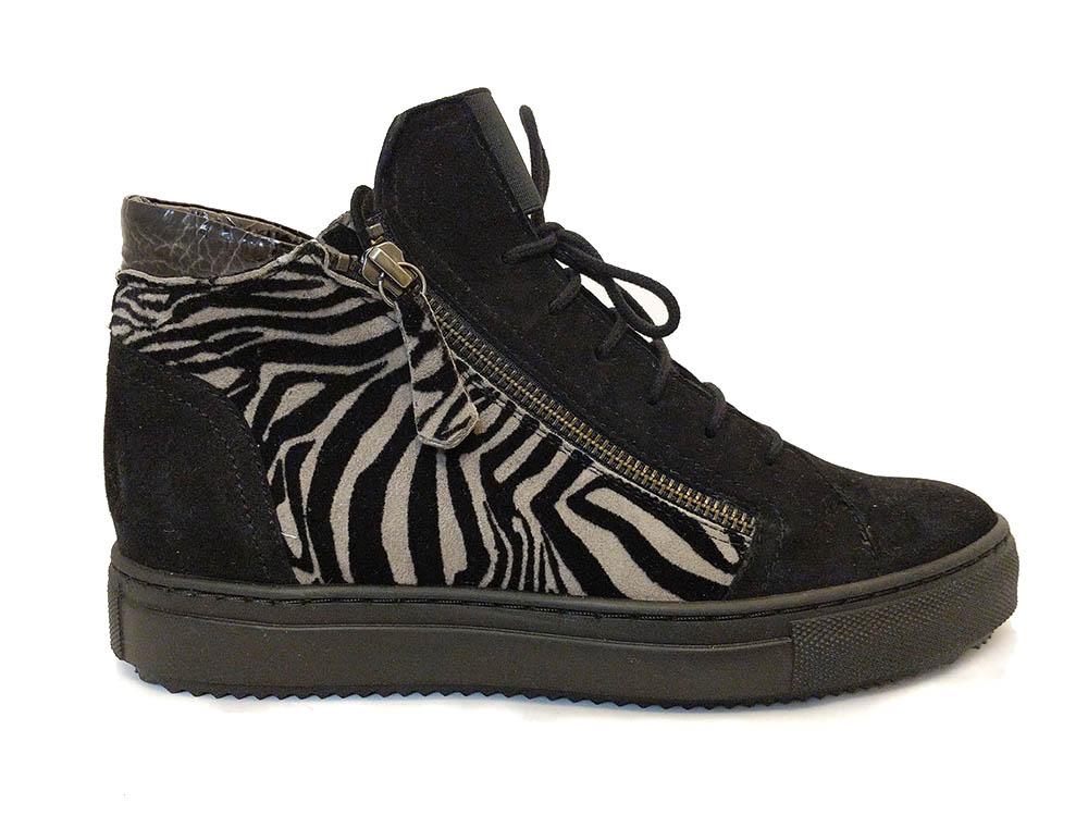 Zwarte Verhulst Veterschoenen Tara Zebra Wijdte H