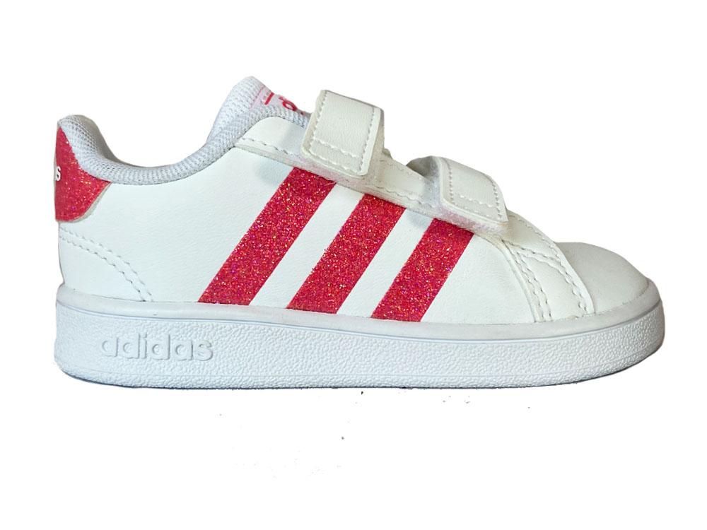 Witte adidas Sneakers Gran Court Kids Klittenband