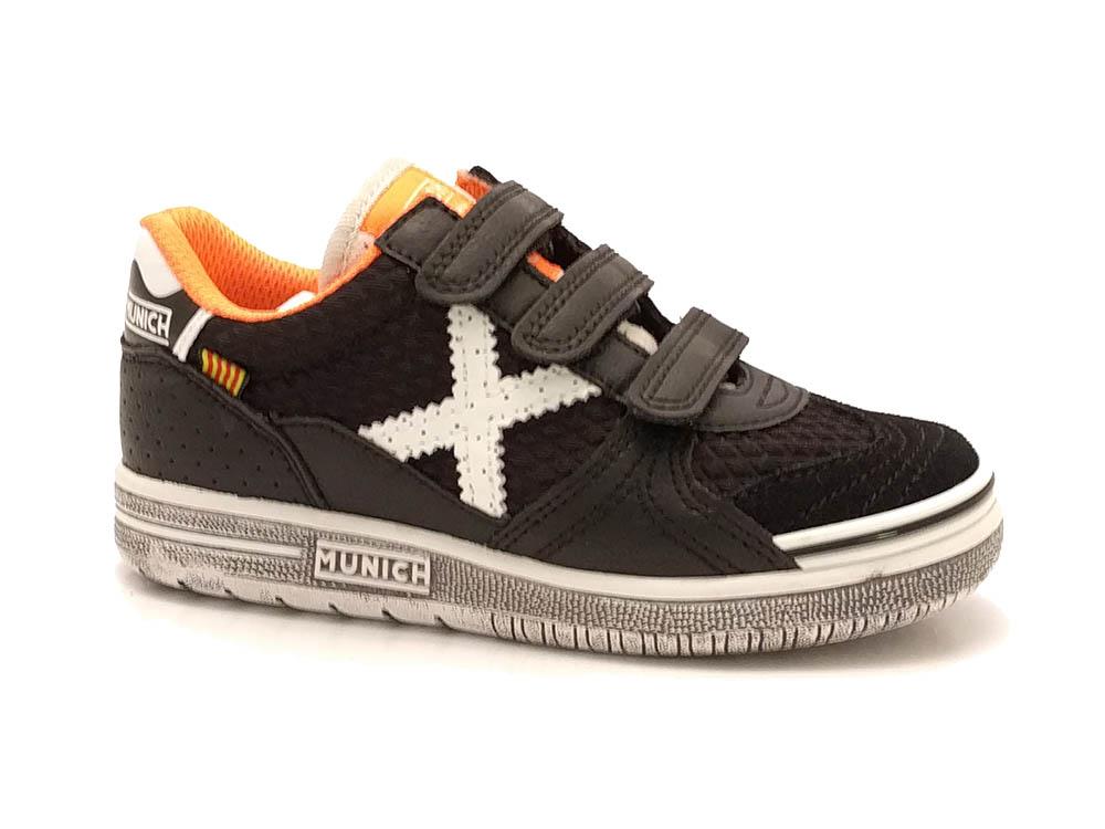 Zwarte Munich Sneakers G3 Klittenband Kids