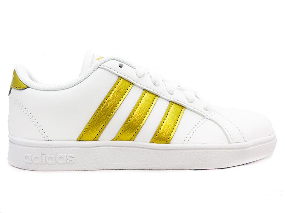 7ce443e6699 Witte adidas Sneakers Gouden Strepen Baseline K - Verest Schoenen