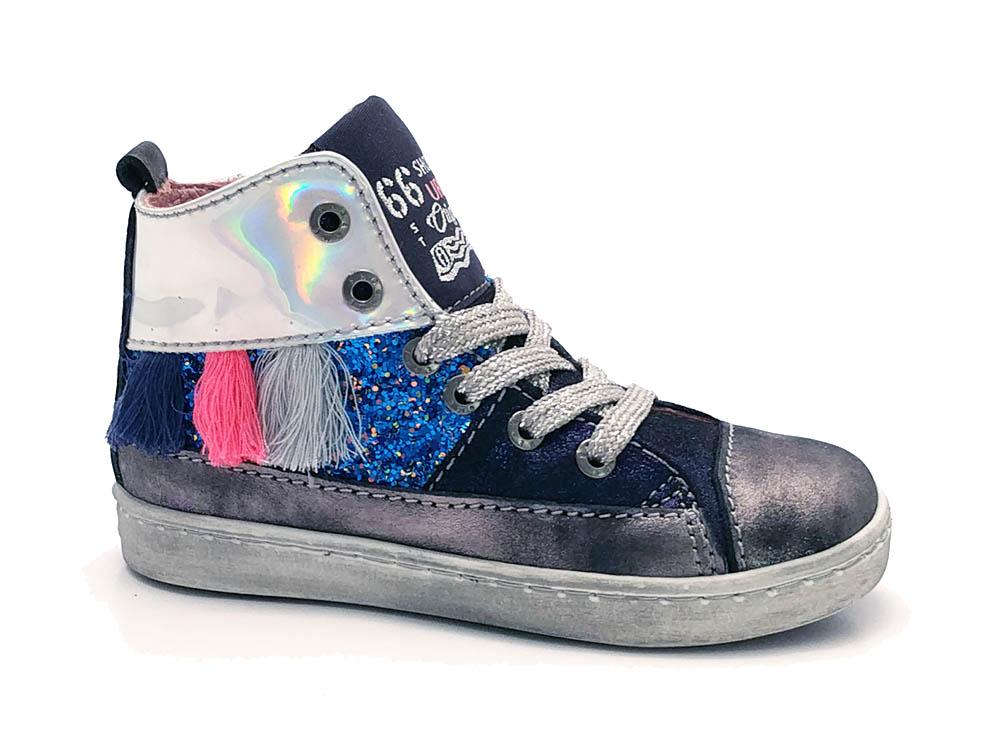 Zilveren ShoesMe Veterschoenen