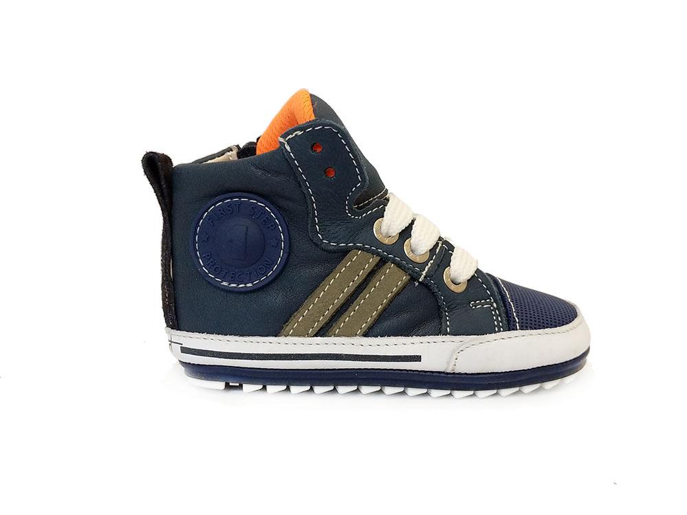 Blauwe ShoesMe Babyproof Veterschoenen Flexzool