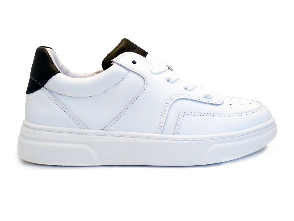 Witte Hip Veterschoenen White Black