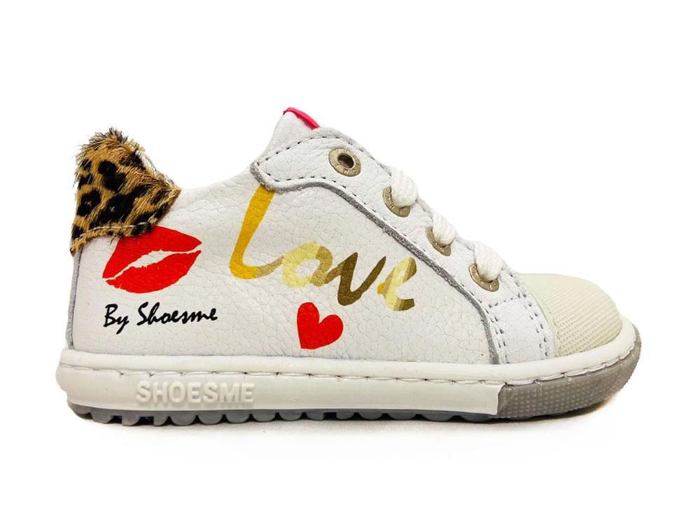 Witte ShoesMe Veterschoenen Extreme Flex
