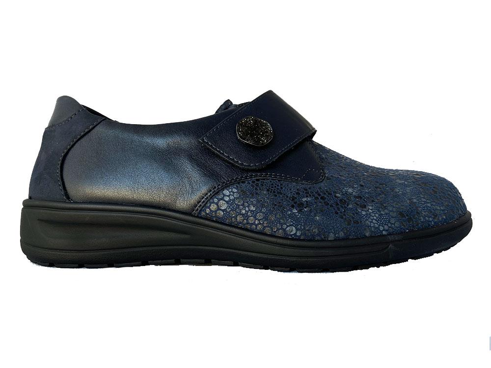 Blauwe Solidus Klittenbandschoenen Kate Wijdte K