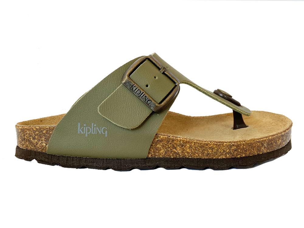 Groene Kipling Slippers Juan 4 Khaki