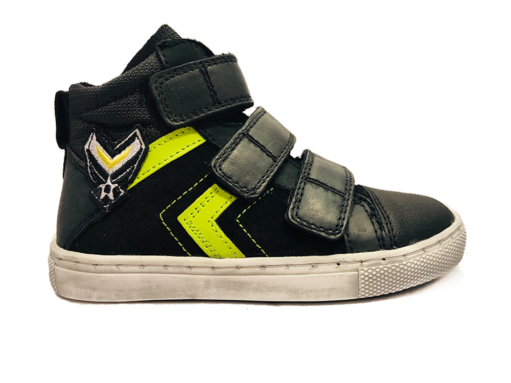 Zwarte Trackstyle Klittenbandschoenen Wijdte 3,5