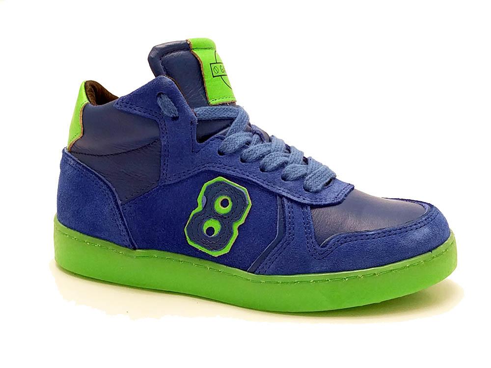 Blauwe Gattino Veterschoenen Kobalt Groen
