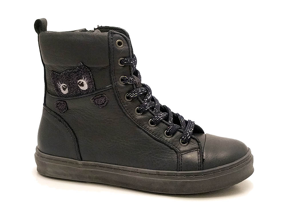 Zwarte Little David Veterschoenen Minou 1