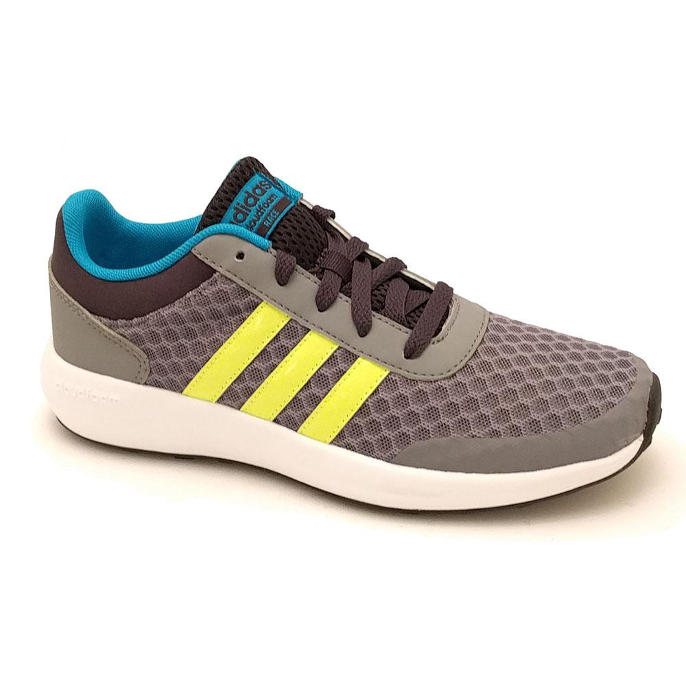 Grijze Adidas Sneakers Cloudfoam Race K