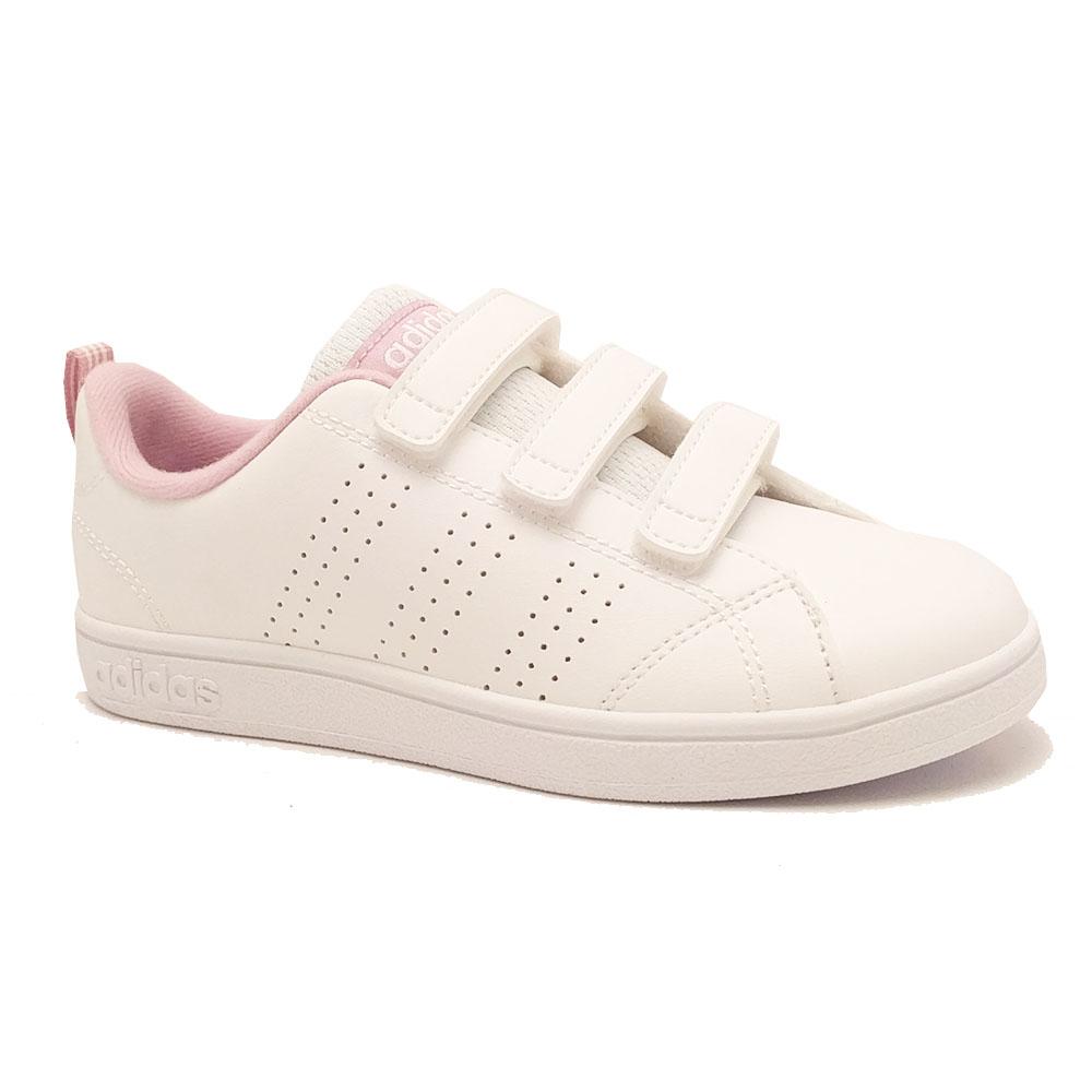 Witte adidas Sneakers VS Advantage Clean Kids
