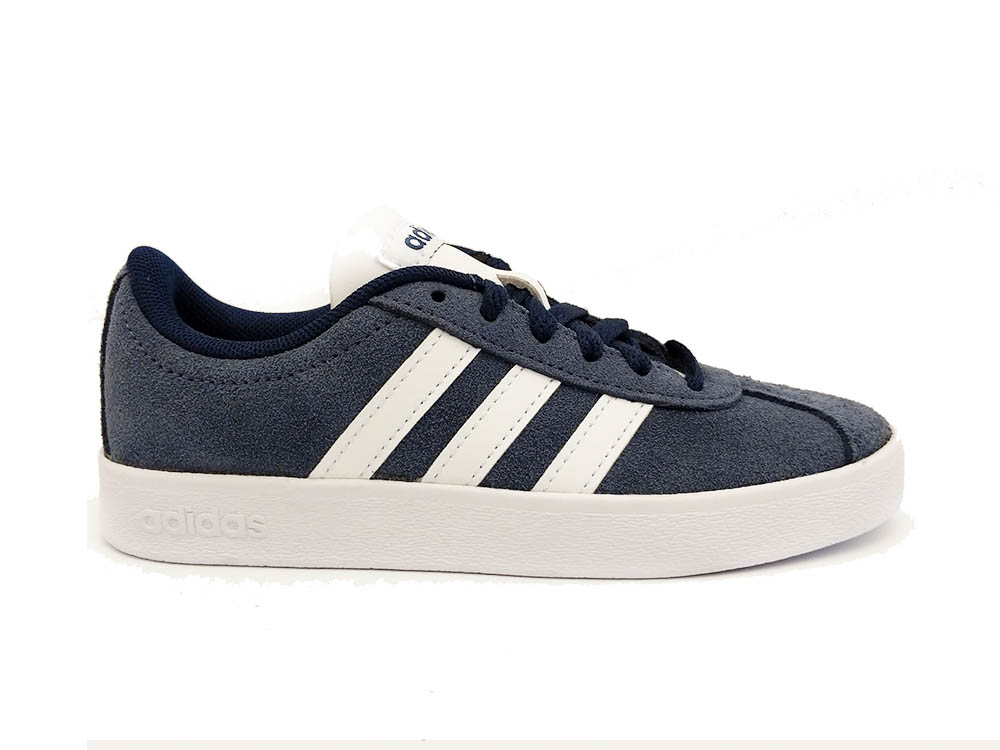 Blauwe adidas Sneakers VL Court 2.0 Kids